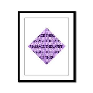 Purple Square Massage Framed Panel Print