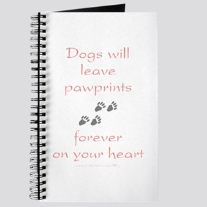 Dog Pawprints On The Heart Journal