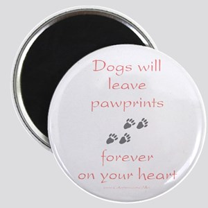 Dog Pawprints On The Heart Magnet