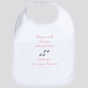 Dog Pawprints On The Heart Bib