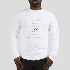 Dog Pawprints On The Heart Long Sleeve T-Shirt