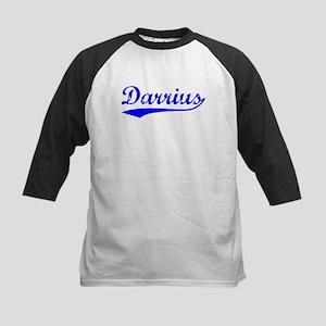Vintage Darrius (Blue) Kids Baseball Jersey