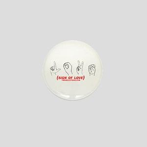 Sign of Love Mini Button