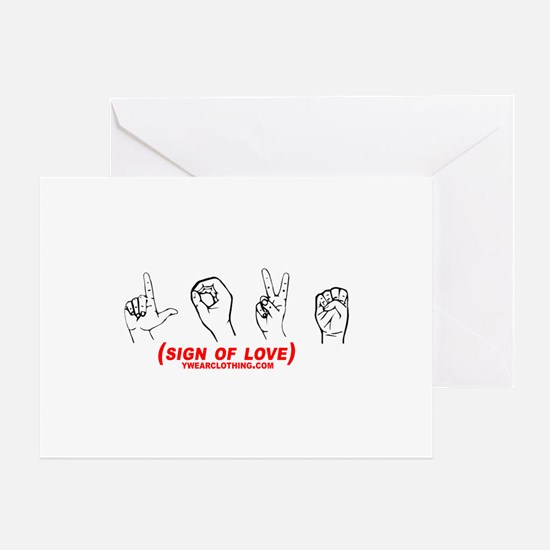 Sign of Love Greeting Card