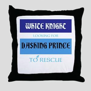 White and Dashing Throw Pillow