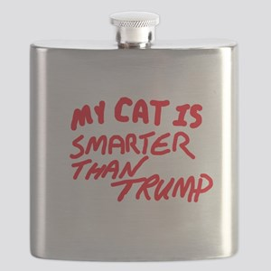 MY CAT IS SMARTER THAN TRUMP Flask