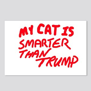 MY CAT IS SMARTER THAN TR Postcards (Package of 8)