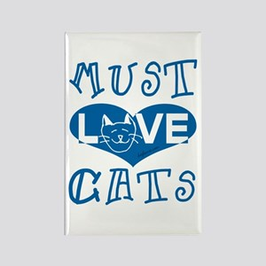 Must Love Cats Rectangle Magnet
