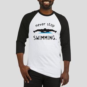 Swimming Baseball Tee