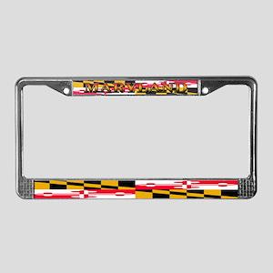Maryland State Flag License Plate Frame