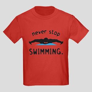 Swimming Kids Dark T-Shirt