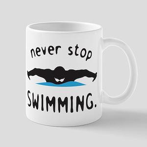 Swimming 11 oz Ceramic Mug