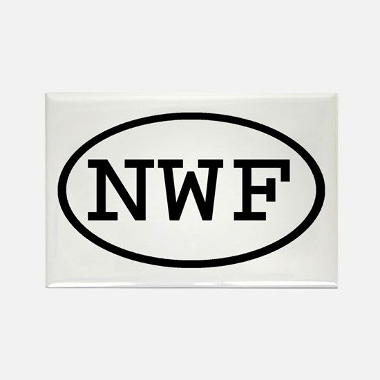 NWF Oval Rectangle Magnet