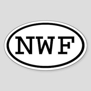 NWF Oval Oval Sticker