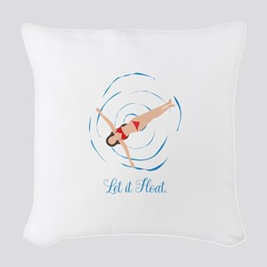 Swimming Woven Throw Pillow