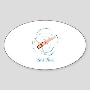 Swimming Sticker (Oval)