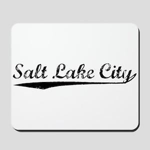 Vintage Salt Lake .. (Black) Mousepad