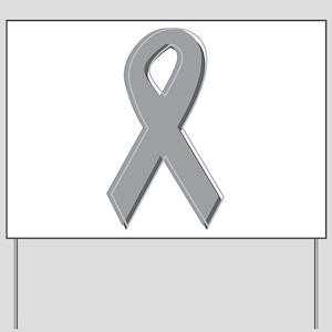 Gray Silver Awareness Ribbon Yard Sign