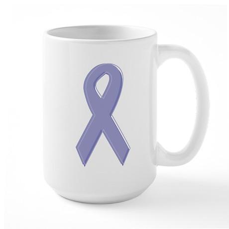 Lavender Awareness Ribbon Large Mug