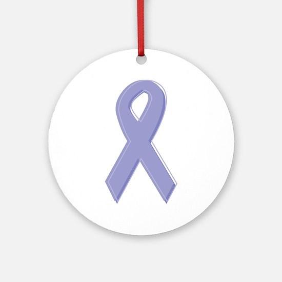 Lavender Awareness Ribbon Ornament (Round)