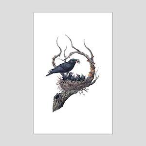 American Crow Mini Poster Print