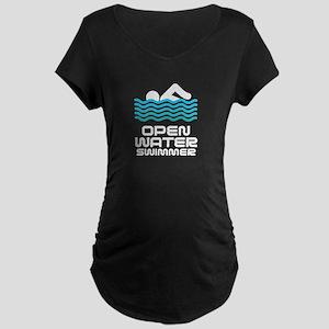Swimming Maternity Dark T-Shirt