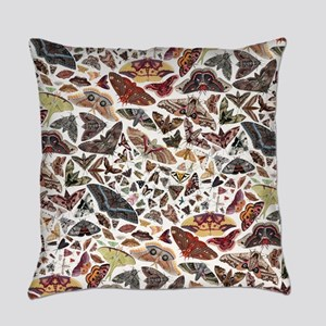 Moths of North America Pattern Everyday Pillow