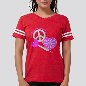 Peace-Love-Darts, pinkgrey T-Shirt