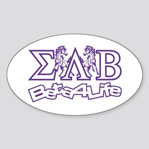 Oval Sticker Sigma Lambda Beta