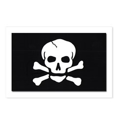 Jolly Roger Pirate Flag Postcards (Package of 8)