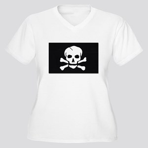 Jolly Roger Pirate Flag (Front) Women's Plus Size
