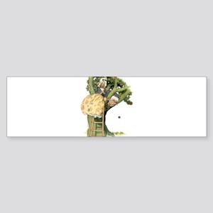 TWO OLD MAIDS UP A TREE Bumper Sticker