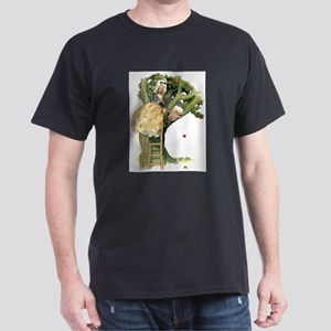 TWO OLD MAIDS UP A TREE Dark T-Shirt