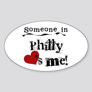 Philly Loves Me Oval Sticker