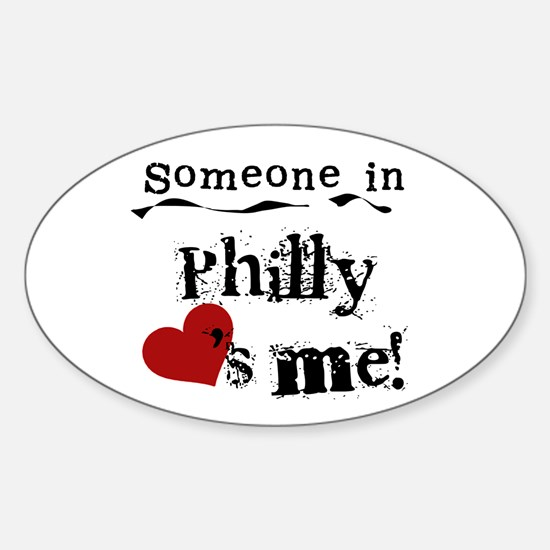 Philly Loves Me Oval Decal