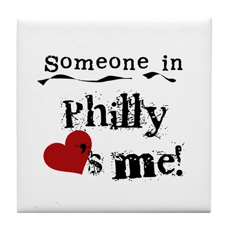 Philly Loves Me Tile Coaster