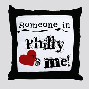 Philly Loves Me Throw Pillow