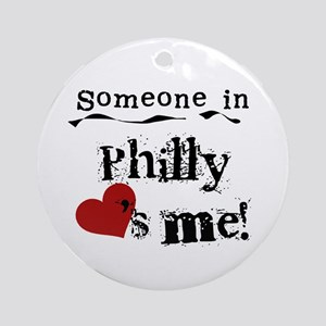 Philly Loves Me Ornament (Round)