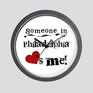 Philadelphia Loves Me Wall Clock