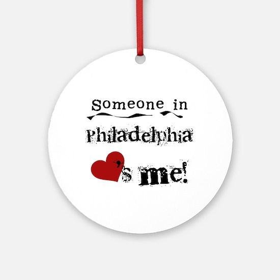 Philadelphia Loves Me Ornament (Round)