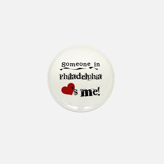 Philadelphia Loves Me Mini Button