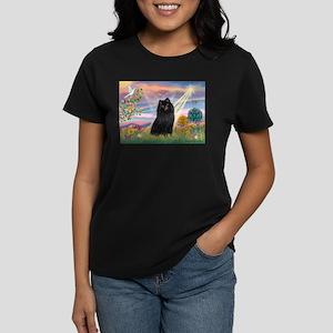 Cloud Angel & Schipperke Women's Dark T-Shirt