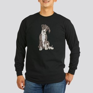 NMtMrl Pup Tilt Long Sleeve Dark T-Shirt
