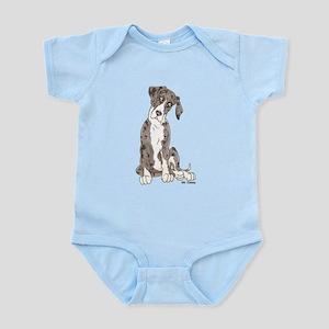 NMtMrl Pup Tilt Infant Bodysuit