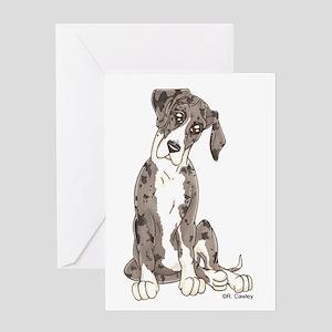 NMtMrl Pup Tilt Greeting Card