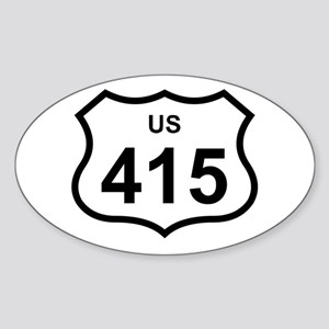 US 415 Oval Sticker