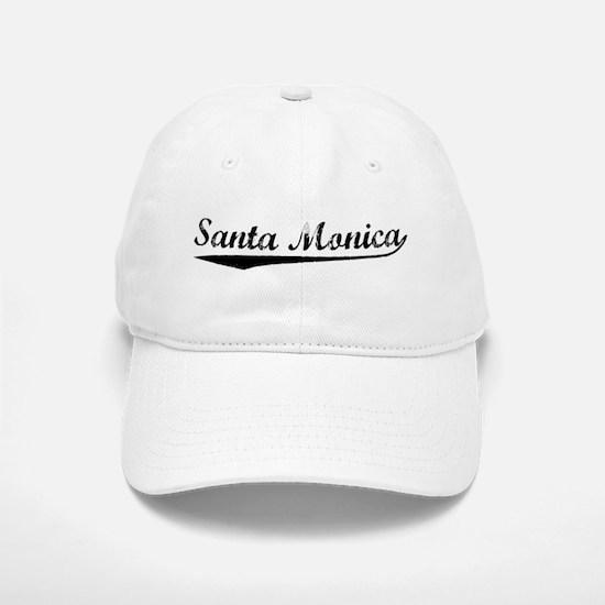 Vintage Santa Monica (Black) Baseball Baseball Cap