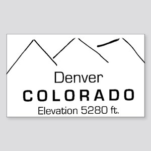 Denver Colorado Rectangle Sticker