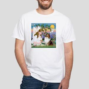 Angel (#2) & Sheltie White T-Shirt