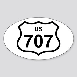 US 707 Oval Sticker